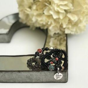 Jewelry - Beaded friendship bracelet, aquamarine